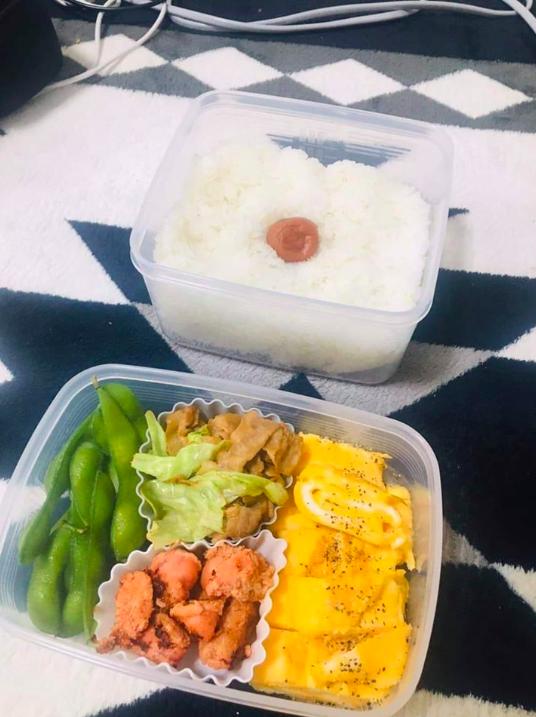 少年院を出て来た少年が自分で作ったお昼のお弁当です。