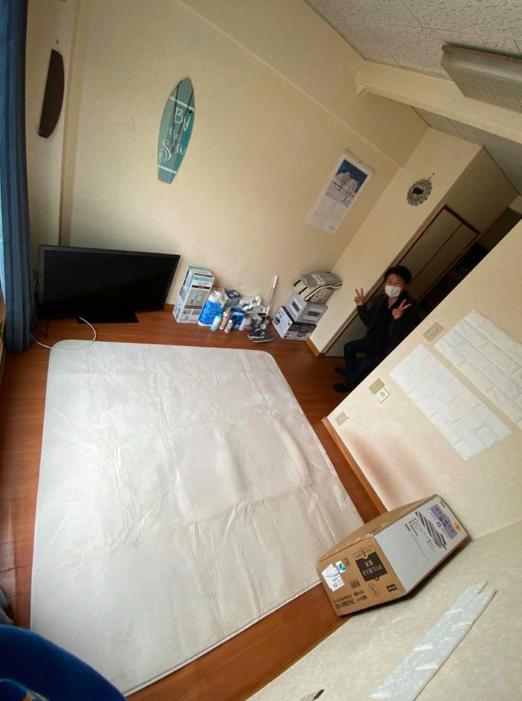 少年が仮退院し、当ホームで生活をはじめました。